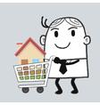 Busines Man Property vector image