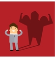 Business man casting a shadow of an athlete vector image vector image