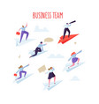 business team concept business people flying vector image