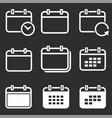 calendar date icon vector image
