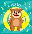 cartoon bear hello vector image