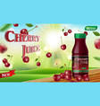 cherry juice with bokeh background on wooden table vector image vector image