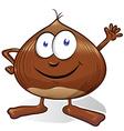 chestnut cartoon vector image vector image