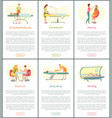 chocolate body spa and tanning posters vector image vector image