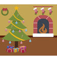christmas room vector image vector image