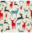 Christmas wooden reindeer pattern vector image vector image