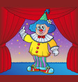 clown on circus stage 2 vector image vector image