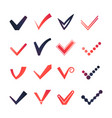 colorful confirm signs set vector image vector image