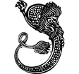 Curled Chinese Dragon vector image vector image