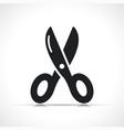 cut icon black symbol vector image vector image
