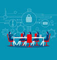 cyber security business meeting security concept vector image vector image
