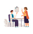 doctor and patient medical check up concept vector image vector image