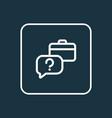 faq icon line symbol premium quality isolated vector image vector image