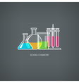 Flasks and Beakers vector image