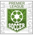 Football Soccer Badge Patch and Emblem for sport vector image vector image