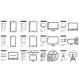 Gadgets line icon set vector image vector image