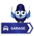 Garage Sign vector image