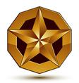 glorious glossy design element luxury 3d golden vector image vector image