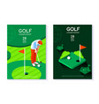 golf club poster template vector image