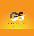 gs g s letter modern logo design with yellow vector image vector image