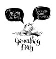 happy groundhog day sketched vector image