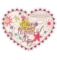 Heart vintage with Happy Mothers Day vector image vector image