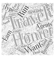 Home Based Travel Business How to Make it Work for vector image vector image