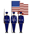 Honor Guard in the United States-1 vector image vector image