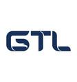 letter gtl modern vector image