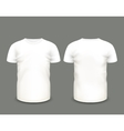 Mens white t-shirt short sleeve vector image vector image