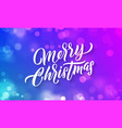 merry christmas lettering and xmas holiday vector image vector image