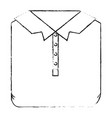 monochrome blurred silhouette of men polo shirt vector image vector image