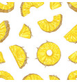 natural seamless pattern with juicy pineapple vector image