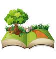 open book nature landscape vector image vector image