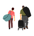 passenger couple with luggage travelers go home vector image