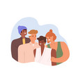portrait happy blended multiracial family mom vector image vector image