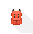 red camping backpack icon vector image vector image