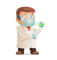 scientist develops cure for viral pandemic test vector image vector image