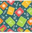 Seamless background with shopping colorful decorat vector image