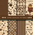 set coffee seamless pattern vector image