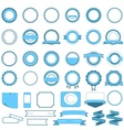 Set of sale badges labels and stickers light blue vector image vector image