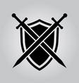 shield and swords icon vector image vector image