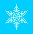 snowflake tree shape symbol vector image