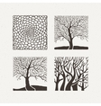 Square trees set Pattern vector image