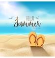 summer beach travel design sun with sand