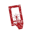 Touching screen red grunge icon vector image vector image