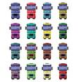 Trucks front view vector image vector image