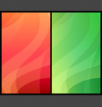 two vertical abstract backgrounds with colorful vector image