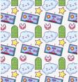 videogame cartoons pattern background vector image