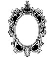 vintage round frame decor baroque antique vector image vector image